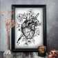 Bleeding Heart Print, Gothic Home Decor, Anatomical Heart, A3 Art Print