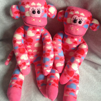 Twin Hearts Monkeys
