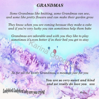 Grandma Poem Card..ideal to frame