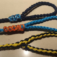 DOG LEADS HANDMADE STRONG, DURABLE PARACORD VARIOUS COLOUR AND SIZES