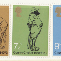 Cricket Sketches by Harry Furniss Postage Stamps: Unused, 1973