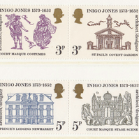 Architect and Designer Inigo Jones Postage Stamp Set; Unused, 1973