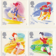 Sports and Movement Postage Stamps Set; Unused, 1988