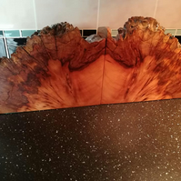 SOLD  Burr yew bookends with explosive grain pattern