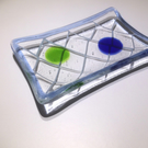 Glass Soap Dish in Fishing Net Design
