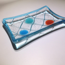 Glass Soap Dish with Fishing Net Design