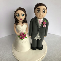 Personalised mini me bride and groom cake topper