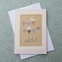 Bunting with Birds
