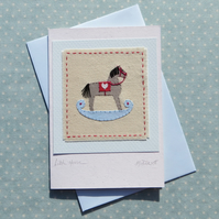 Little Horse hand-stitched card