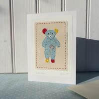 Little Bear hand-stitched card