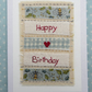 Happy Birthday hand-stitched card