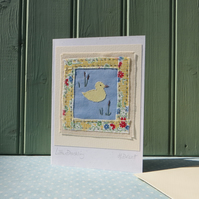 Little Duckling hand-stitched card