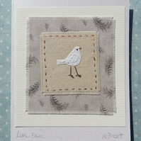 Little Dove hand-stitched card