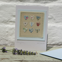 Hand-stitched card to send your love in a special way!