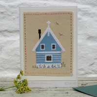 Little Dutch House, hand-stitched, very detailed, a gift as well as a card!