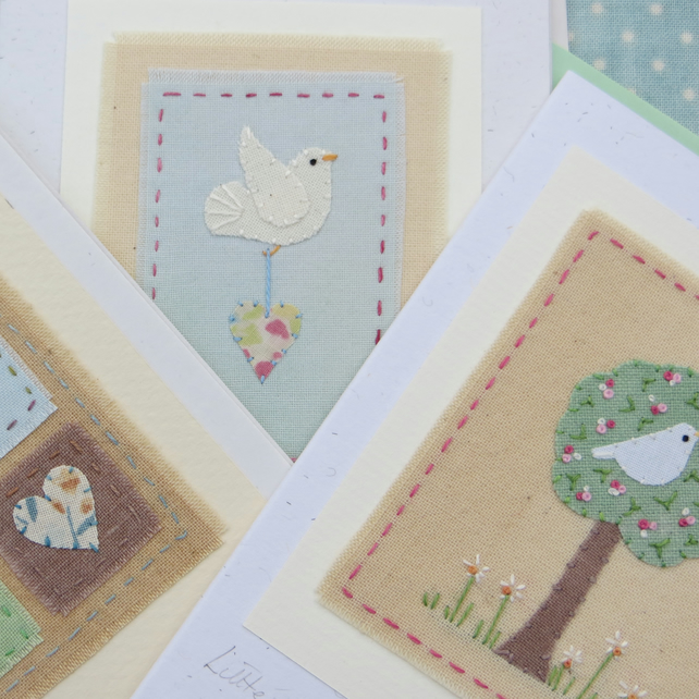SPECIAL OFFER pack of three hand-stitched cards at a reduced price!