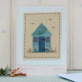 Monty's Shed hand-stitched card, pretty and detailed, a card to keep!