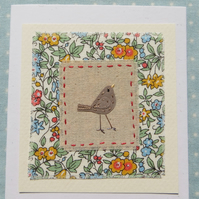 Little Bird,hand-stitched applique, detailed work, other designs available