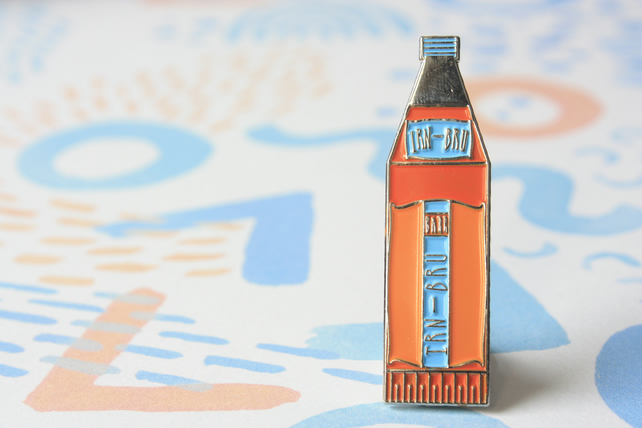 Irn Bru Enamel PIn Brooch Badge (Iron Brew)