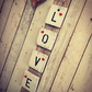 Handmade Rustic Hanging Wall Sign with the word Love