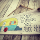 Rustic Caravan Sign Handmade Using Recycled Pallet Wood