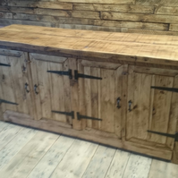 rustic style furniture solid wood bespoke sizes