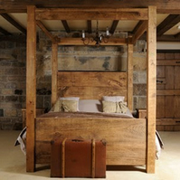chunky rustic beds built to any size you want