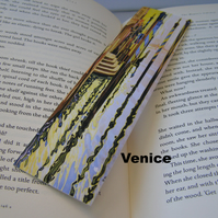 Vintage travel themed bookmark