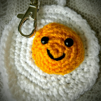 Crochet Happy Egg Keyring