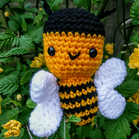 Crochet busy bumble bee
