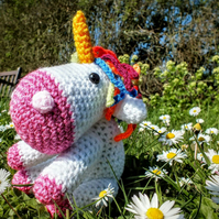 Hand crocheted Unicorn