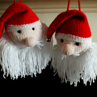 Knitted Santa Head