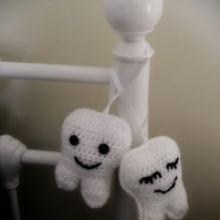 Cute smiley Tooth Fairy Pillow