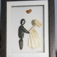 "'The Bride and Groom'  9""x7"""