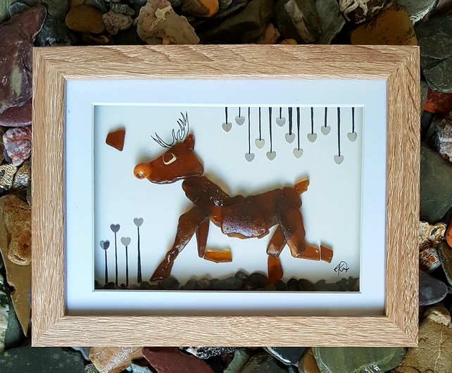 "'Christmas Rudolph the Red Nosed Reindeer' 9"" x 7"""
