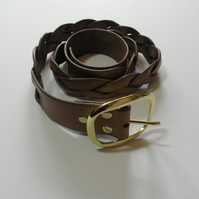 Handmade Braided Leather Belt