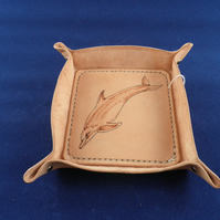 Small Valet Tray decorated with a Dolphin