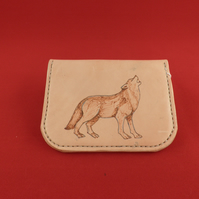 Large Coin Purse with a Wolf Design