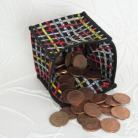 Coin Purse - Origami styled folding purse - Tape Measure