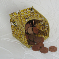 Coin Purse - Origami Folding Purse - Bees