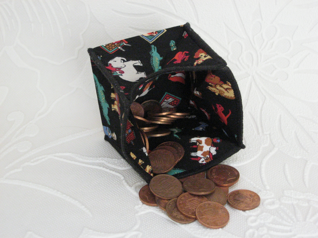 Coin Purse - Origami styled folding purse - Noahs Ark