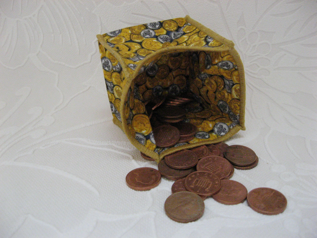 Coin Purse - Origami styled folding purse - Pirates Gold