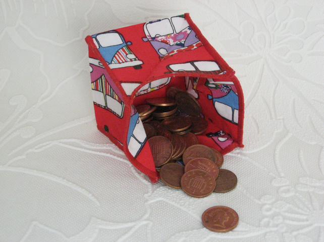 Coin Purse - Origami styled folding purse - Camper Van