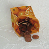 Coin Purse - Origami styled folding purse - Oranges