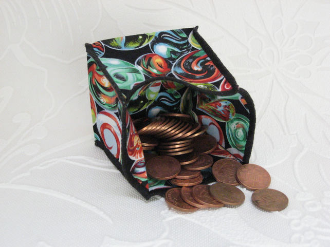 Coin Purse - Origami styled folding purse - Marbles