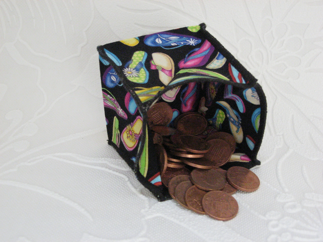 Coin Purse - Origami styled folding purse - Flip Flops