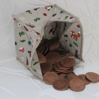 Coin Purse - Origami styled folding purse - Forest Animals