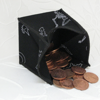 Coin Purse - Origami styled folding purse - Halloween