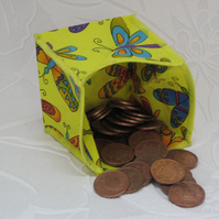 Coin Purse - Origami styled folding purse - Butterflies