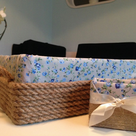 hand made storage boxes - set of 2